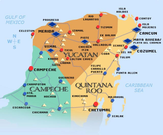 Yucatan - Carte