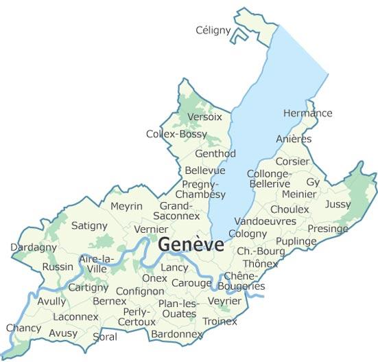 Genève - Carte