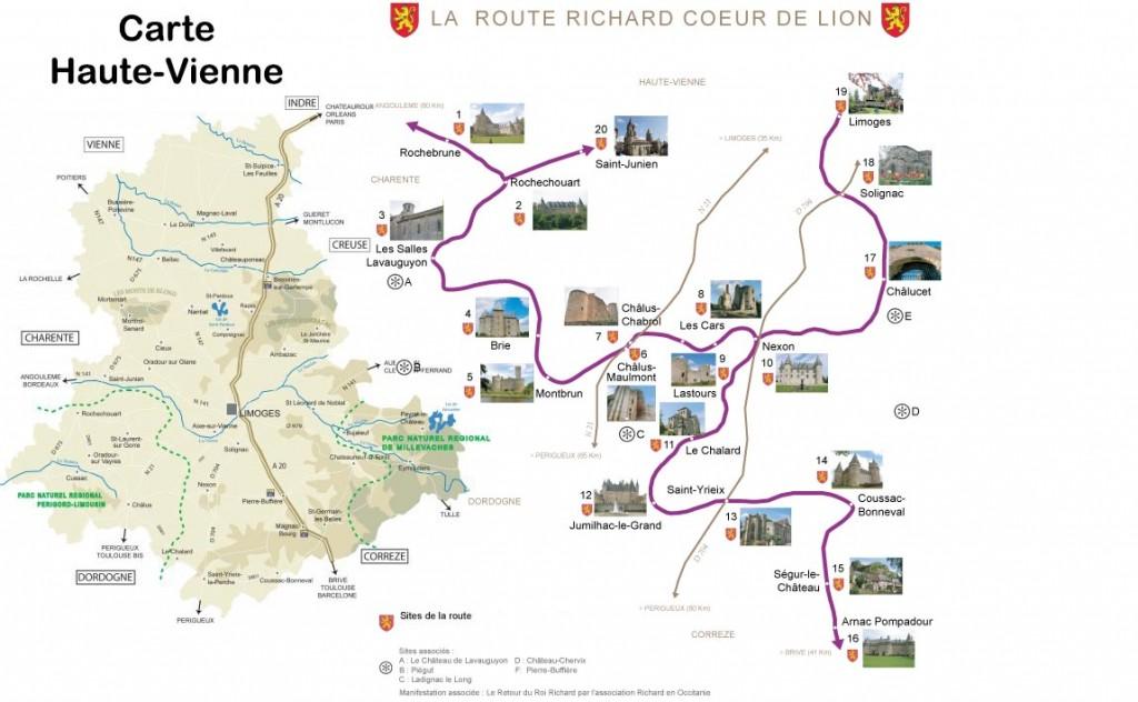 Haute Vienne - Carte