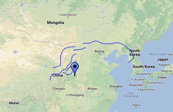 Grande muraille de chine - Carte