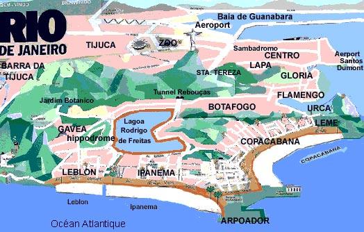Plage de Rio de Janeiro - Carte