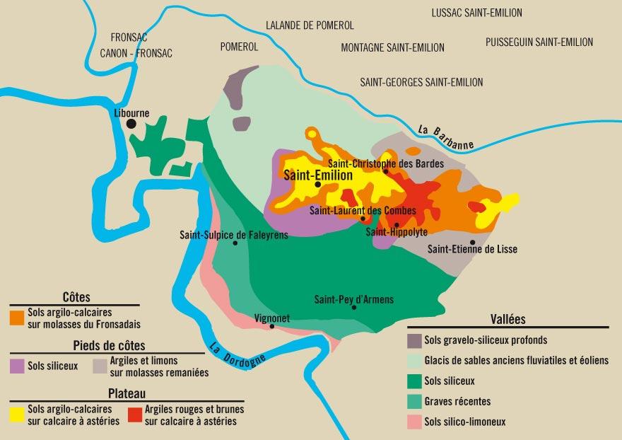 Carte saint-émilion