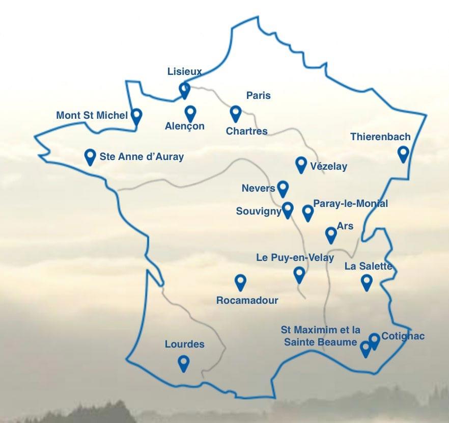 Circuit Villes sanctuaires de France