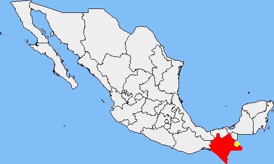 chiapas - carte du mexique
