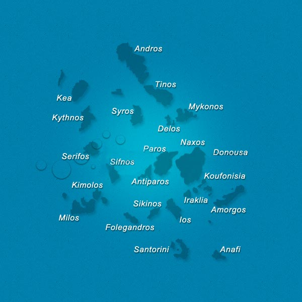 Cyclades - carte