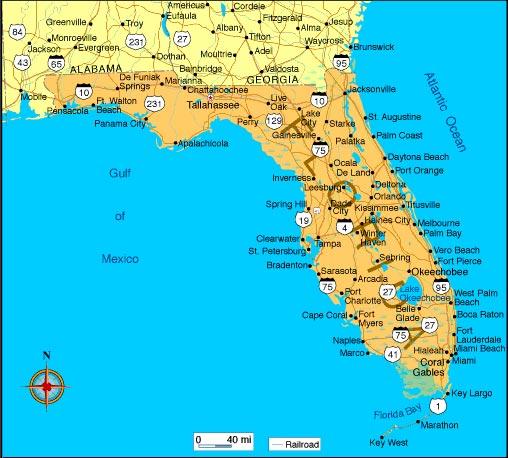 Carte - Floride