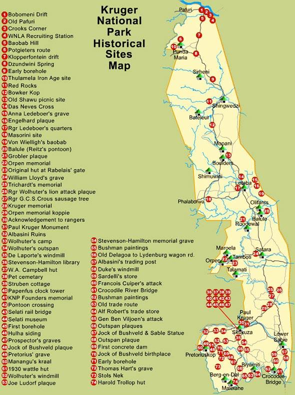 Kruger Park - Carte