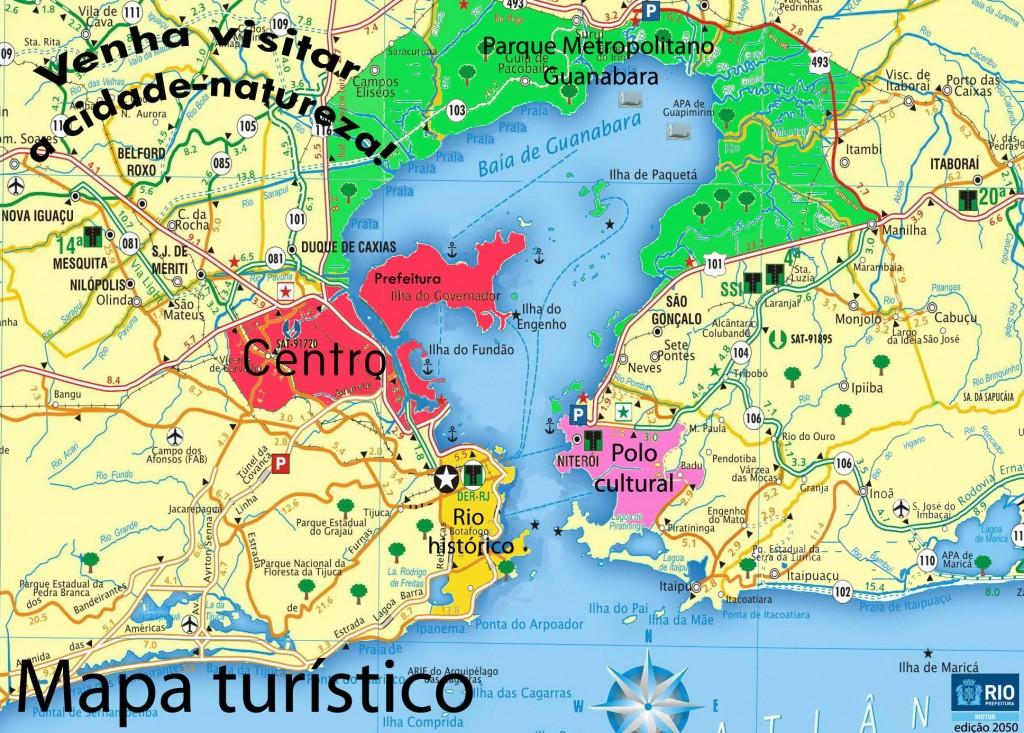 Carte de la baie de Guanabara