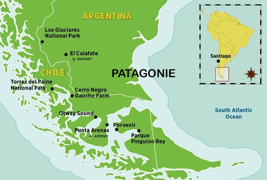 Carte - Patagonie