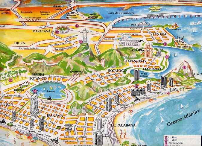 Rio - Carte touristique
