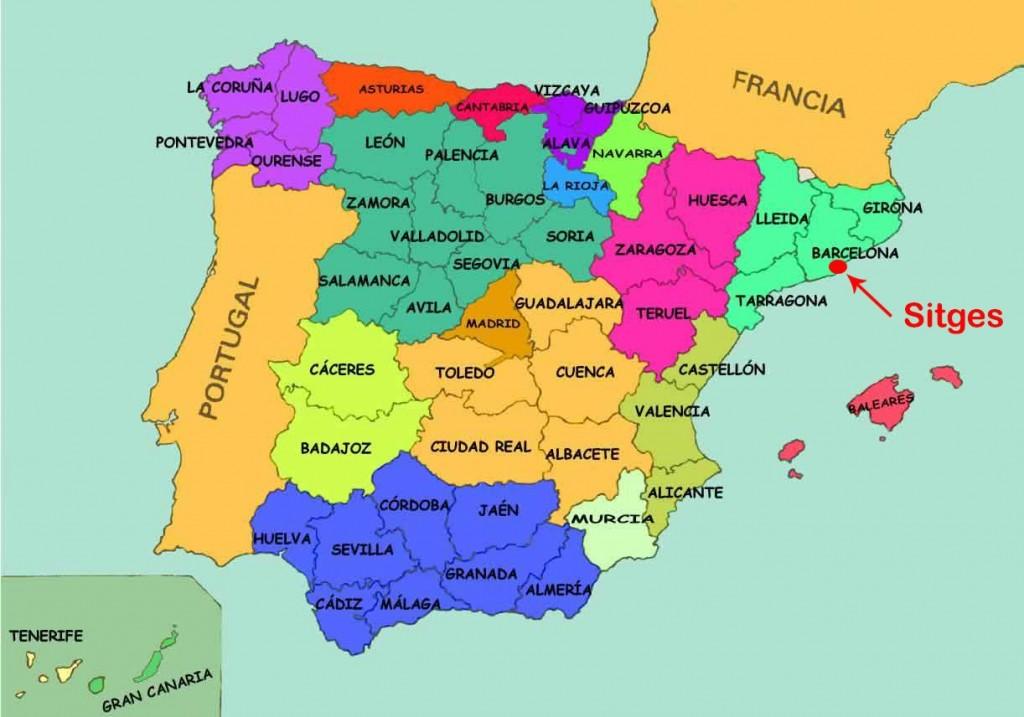 Sitges - Carte Espagne