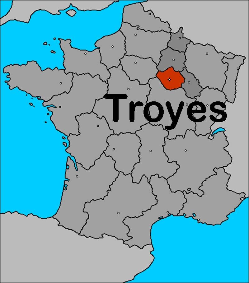 troyescarte de france - Image