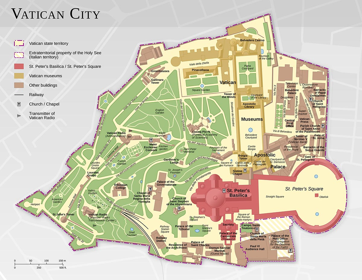 Plan - Ville du Vatican