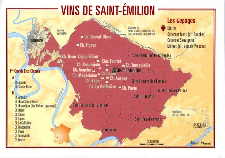 carte des vins - saint-emilion