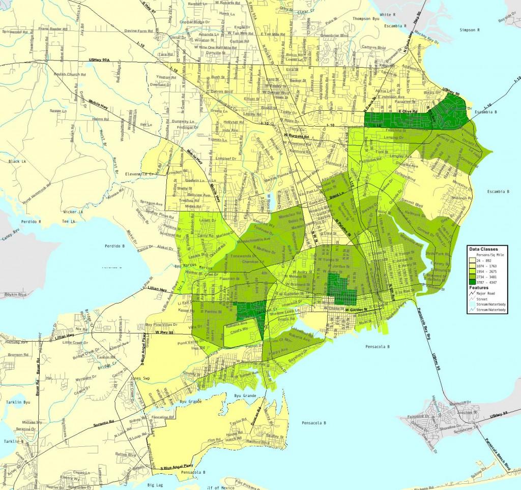 Pensacola-Floride - Carte