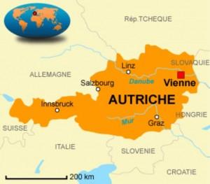 Vienne - Carte Autriche