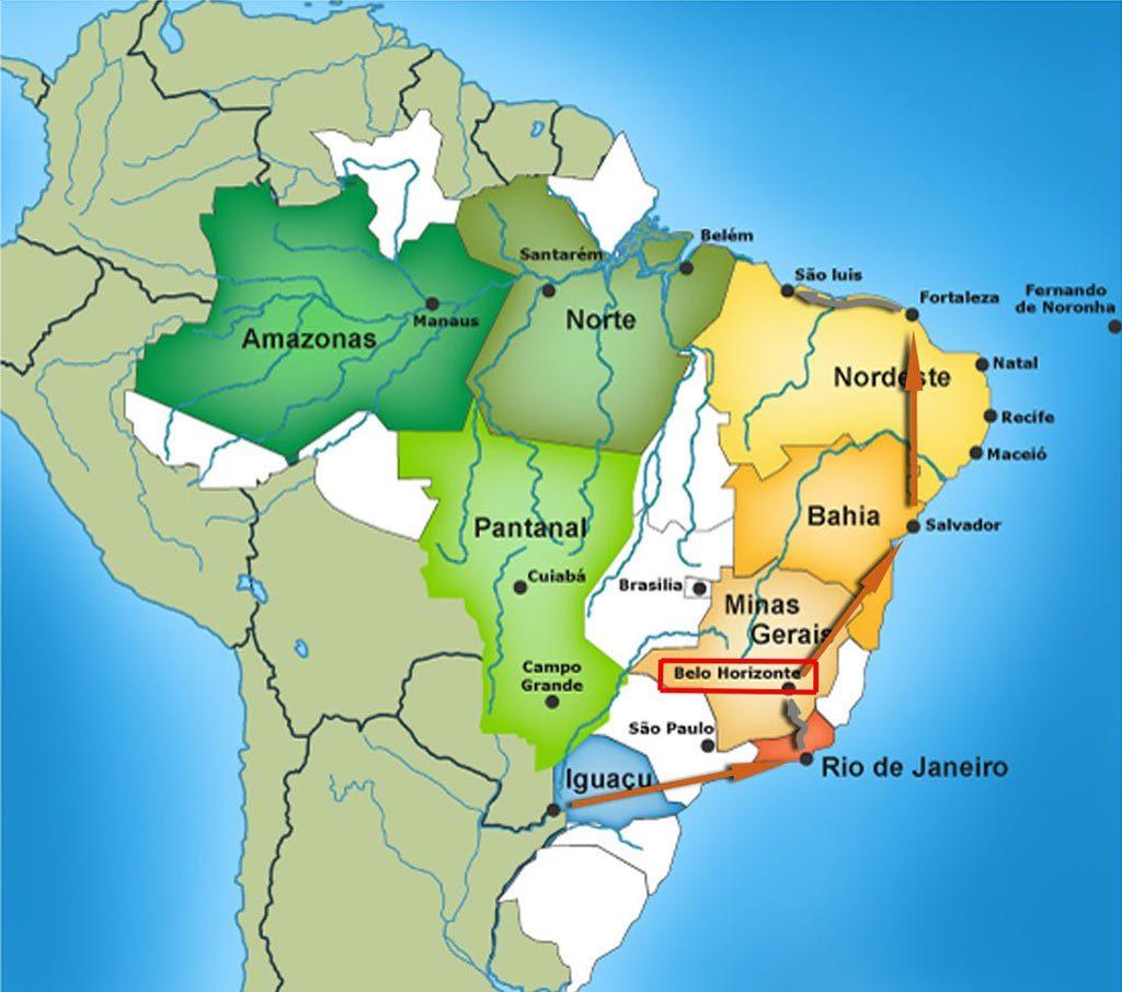 belo-horizonte - Carte du Brésil