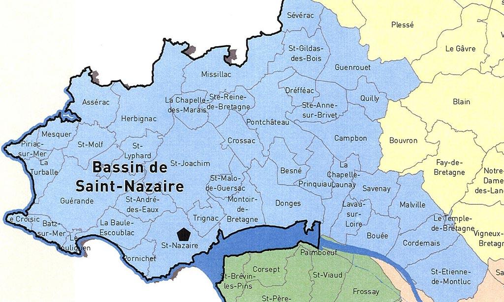 Carte de Saint Nazaire