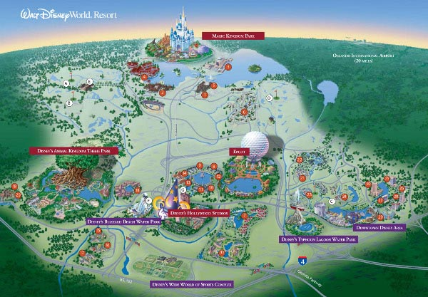 carte - Parc walt-disney-world