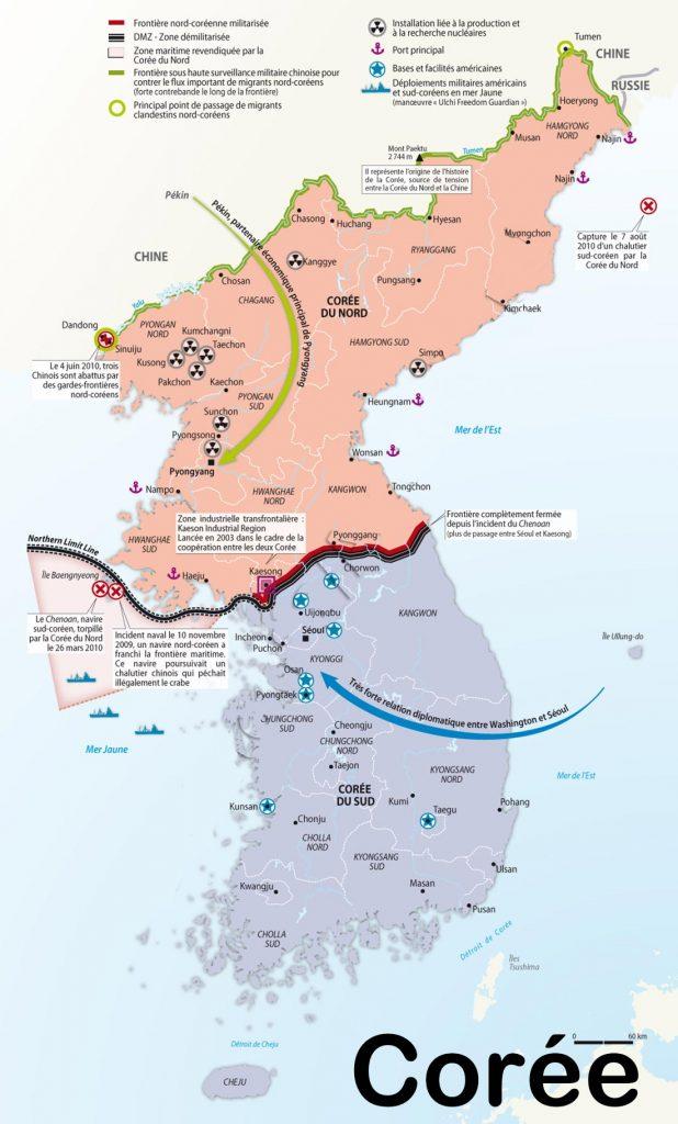 Corée - Carte
