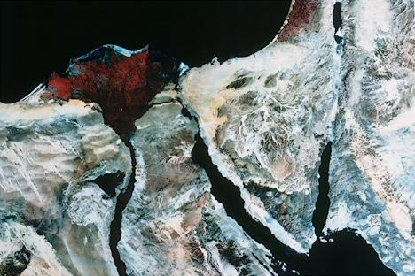 Delta du Nil et Sinaï - image satellite