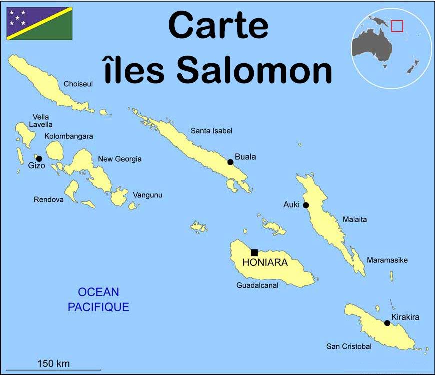 carte des iles salomon