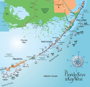 Carte des Keys - Floride