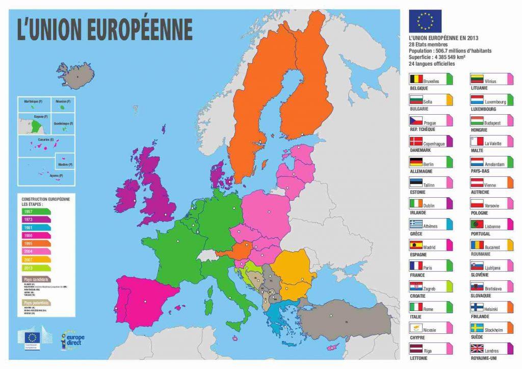 union-européenne - Carte et Pays