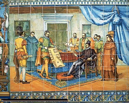 Philippe II approuvant l'urbanisation de Valladolid