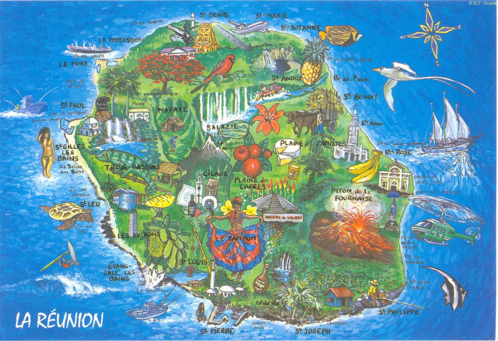 Carte-Ile-de-la-Réunion