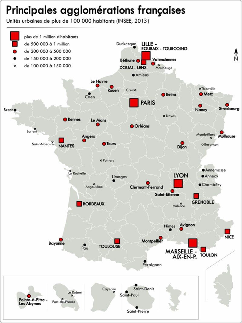 Populations Grandes Villes Francaises