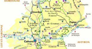 Carte du Lot - Département 46