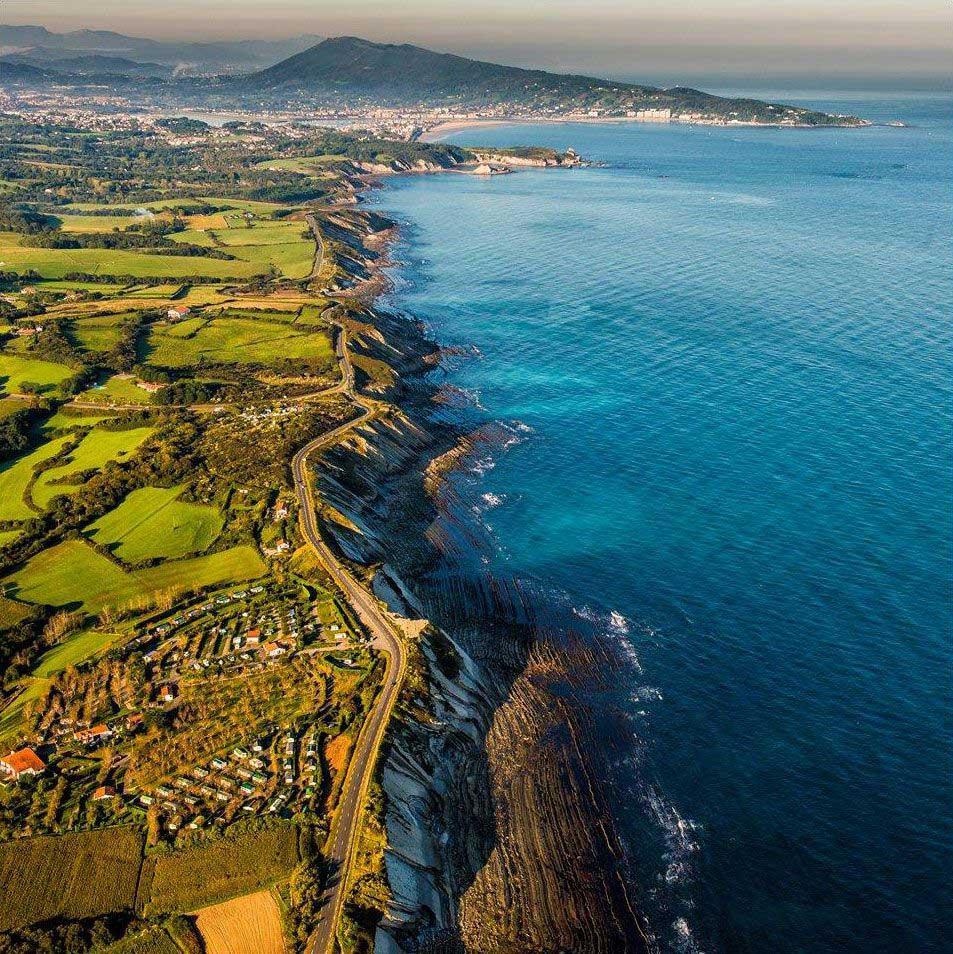 La côte basque vue du ciel
