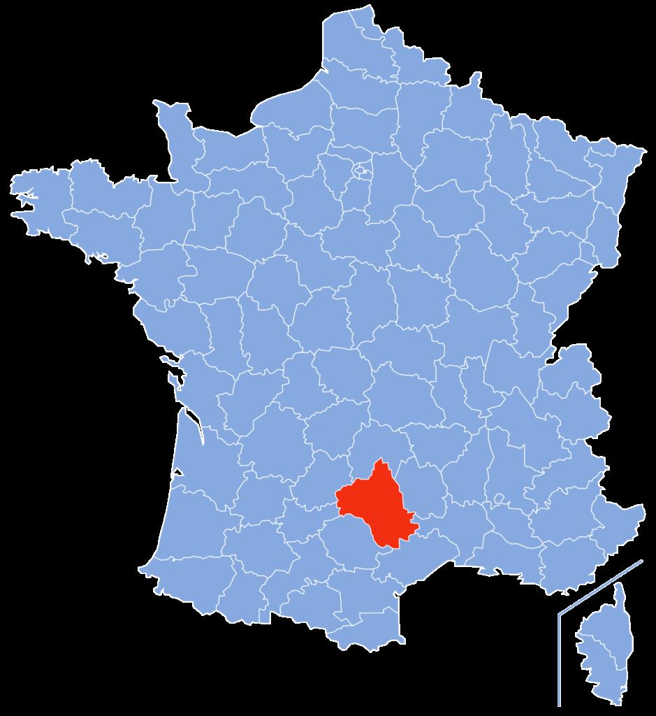 Aveyron- Carte de France