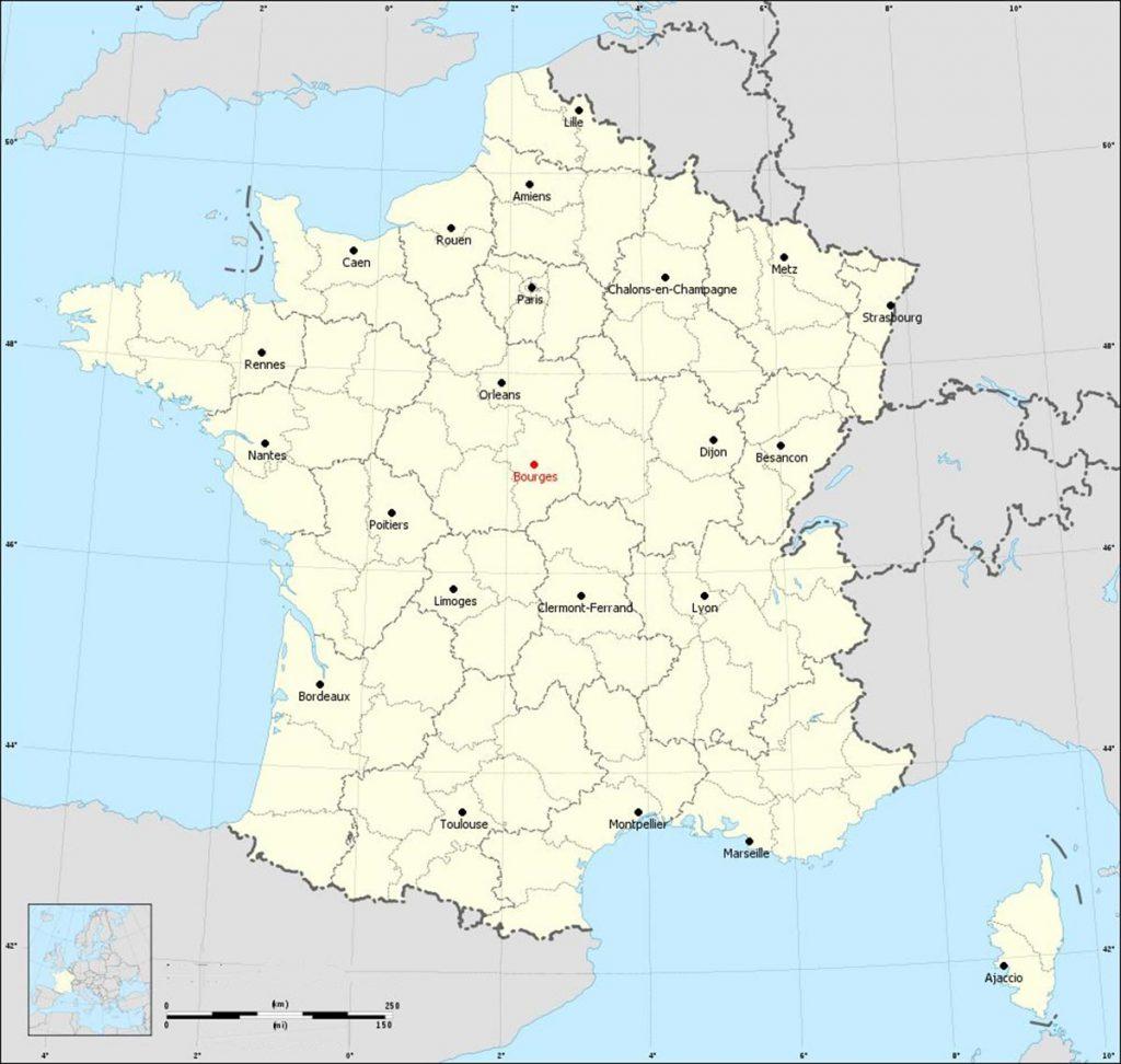 Bourges Ville - Carte