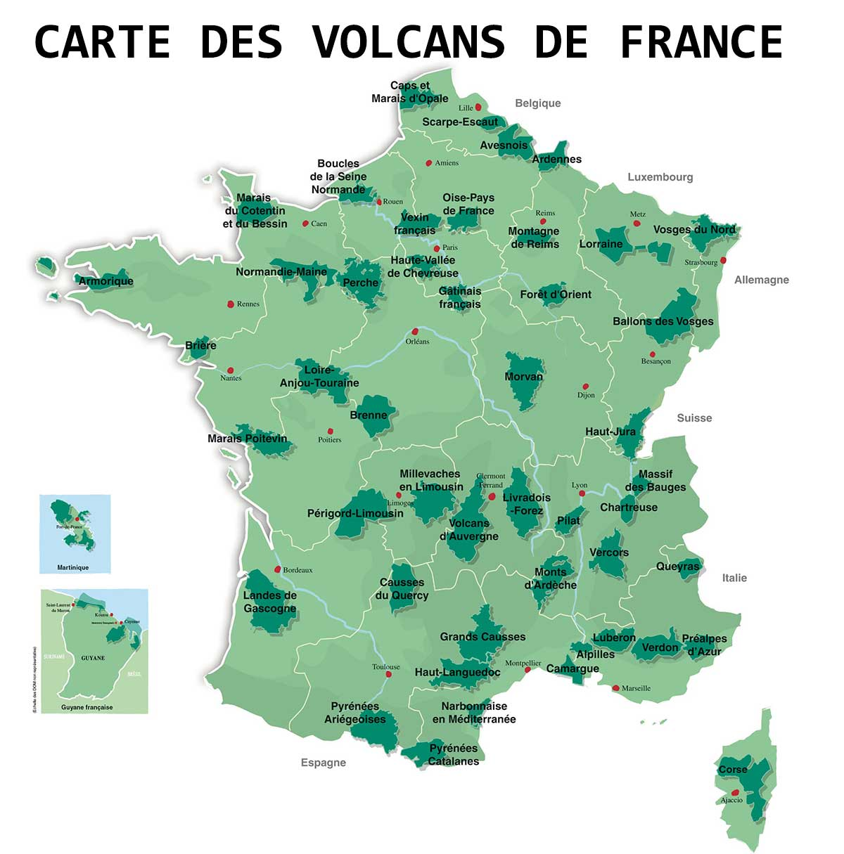 carte-des-volcans-en-france - Photos