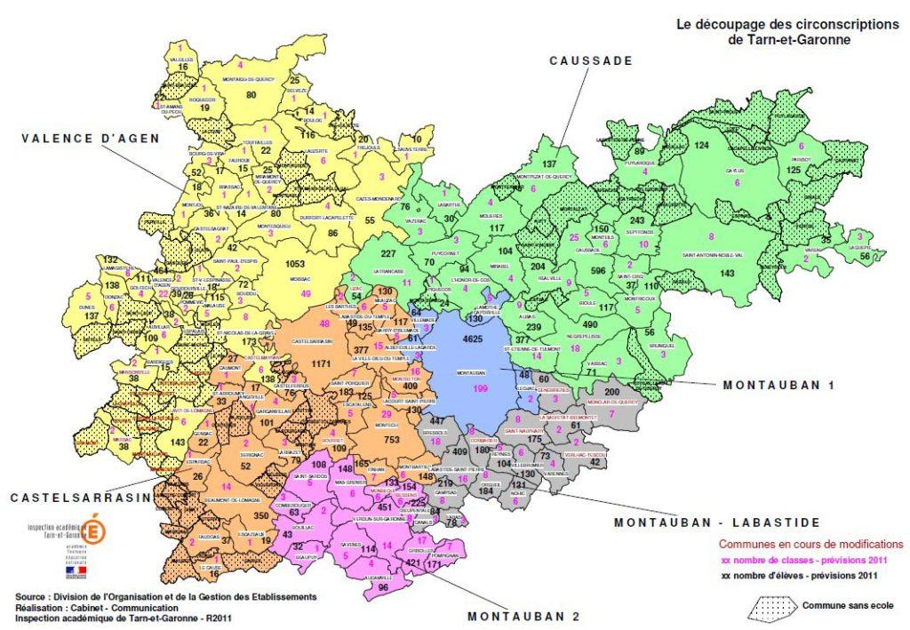 Valence d'Agen - Carte