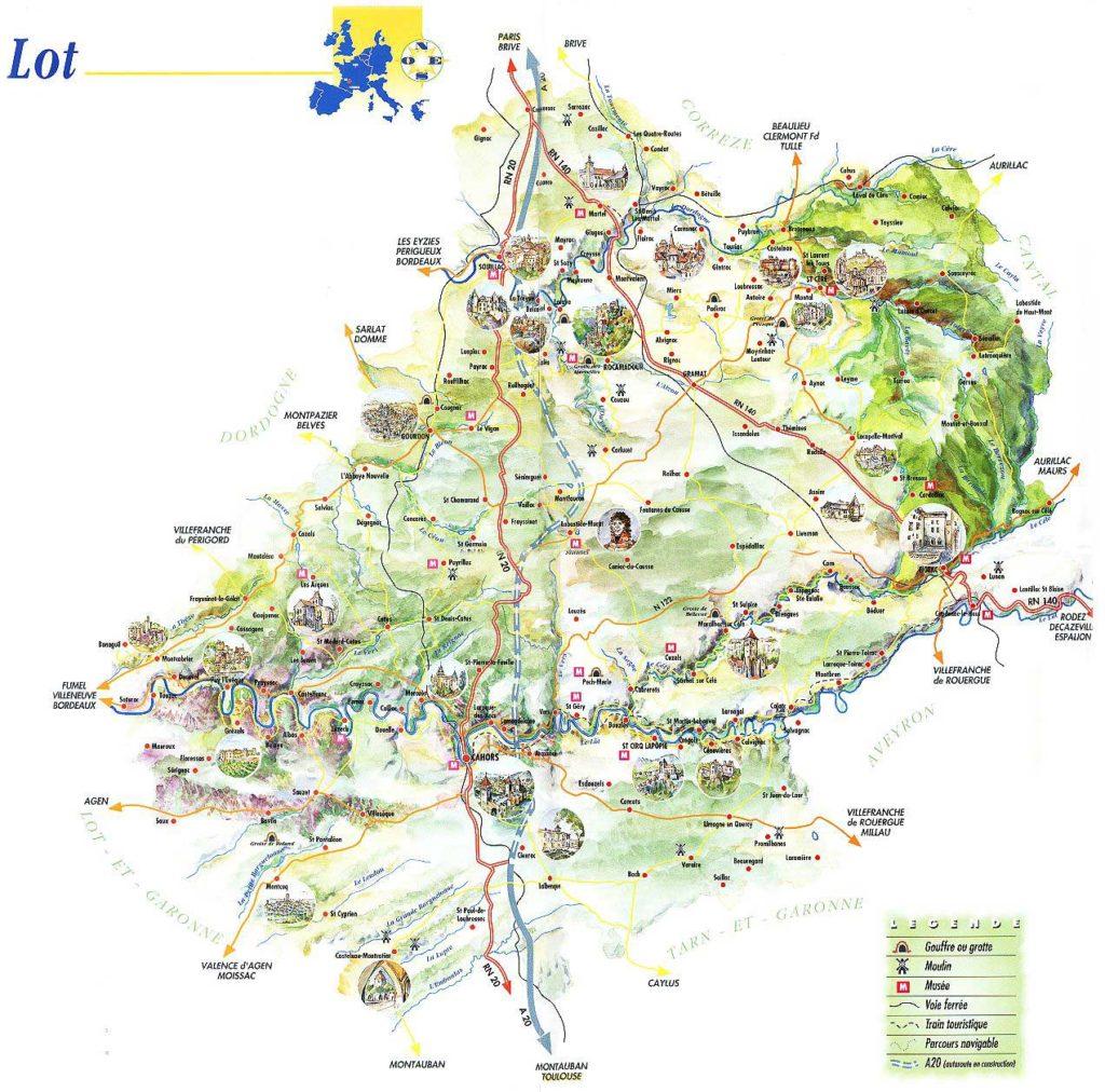 Carte du lot touristique