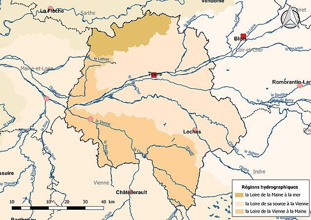 Indre et Loire carte