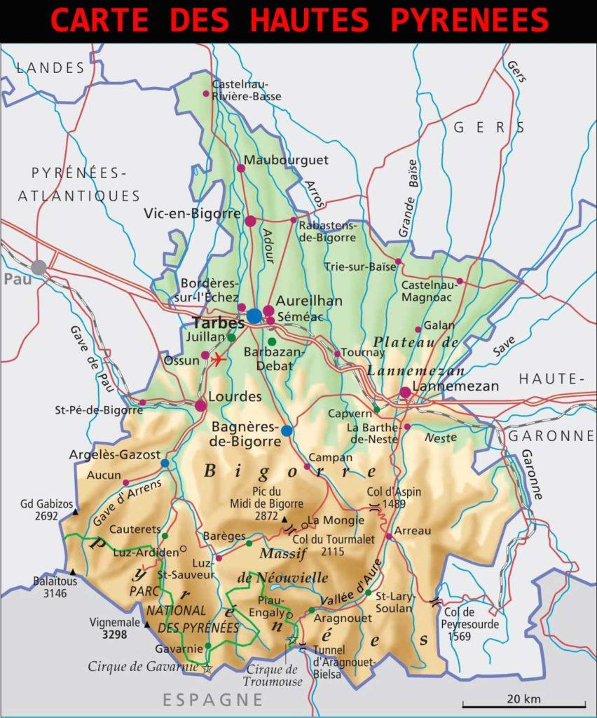 Carte-Hautes-Pyrénées