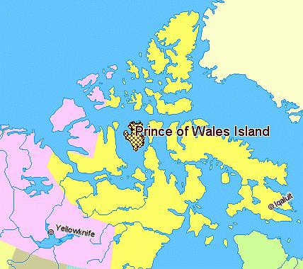 Carte - Ile du Prince-de-Galles