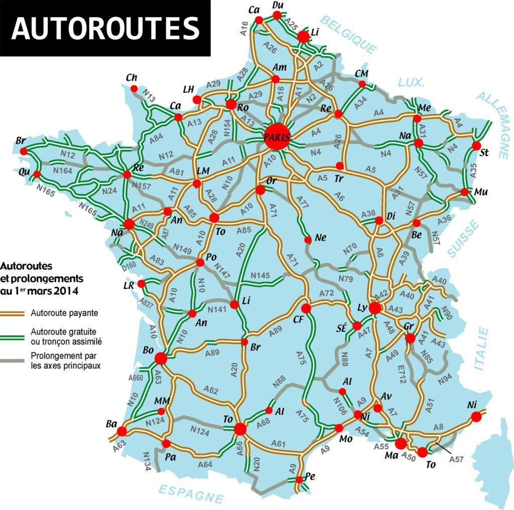 Carte De France Autoroute : carte de france des autoroutes arts et voyages ~ Medecine-chirurgie-esthetiques.com Avis de Voitures