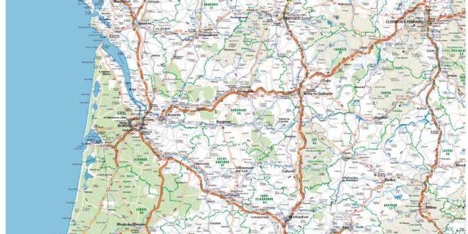 Carte du Sud Ouest de la France » Vacances - Arts- Guides Voyages
