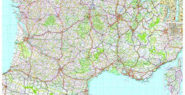 Carte géographique du Sud