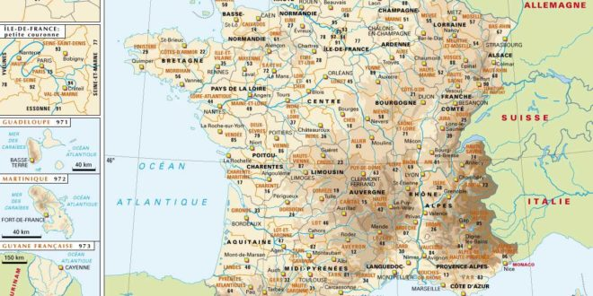 Carte France villes et villages