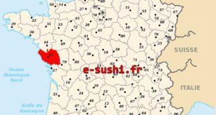 Carte département 85 - Vendée