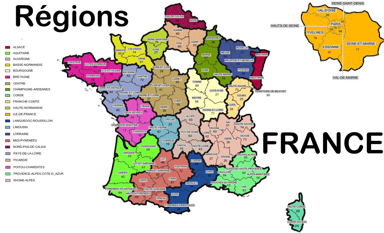 carte de france 23