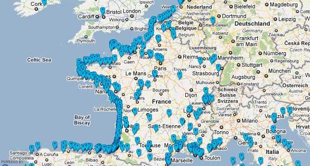 carte des campings en france Vous avez cherché carte de france plage   Arts et Voyages