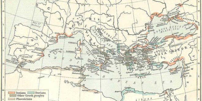 Carte de la méditerranée