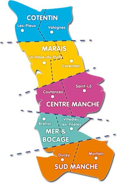 Département de la Manche - Carte